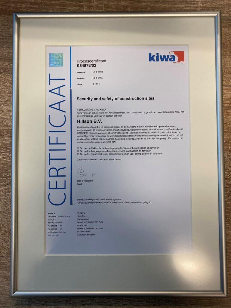 KIWA certificaat